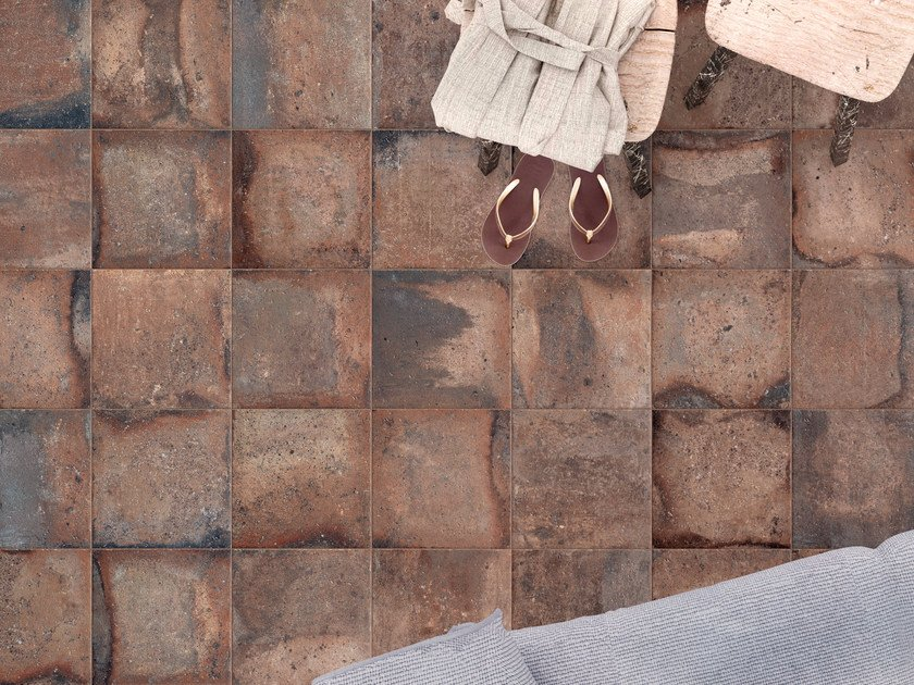 Porcelain stoneware wall/floor tiles with terracotta effect CONTEXT BROWN - ASTOR CERAMICHE