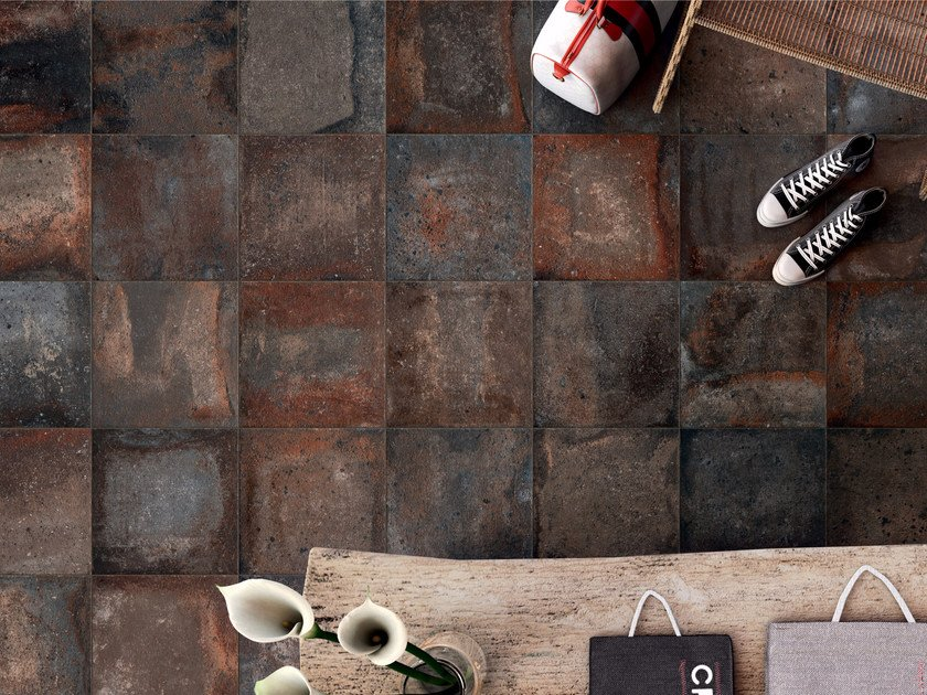 Porcelain stoneware wall/floor tiles with terracotta effect CONTEXT SHADOW by ASTOR CERAMICHE