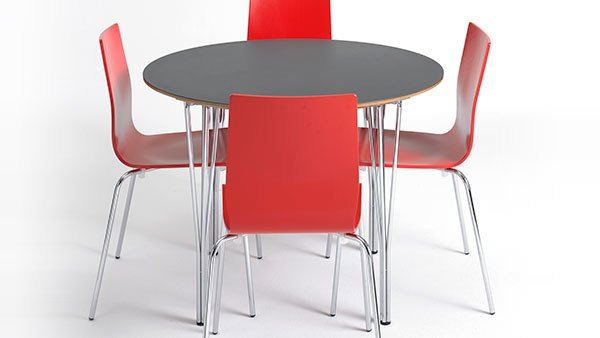 Lacquered round MDF meeting table CONTRACT | Meeting table - Danerka