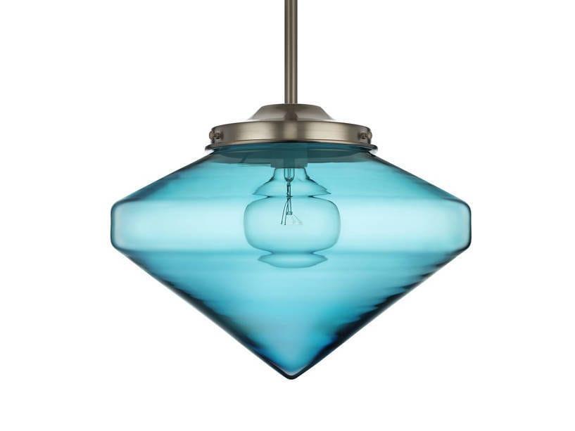 Lampada a sospensione a LED fatta a mano in vetro soffiato COOLHAUS - Niche Modern