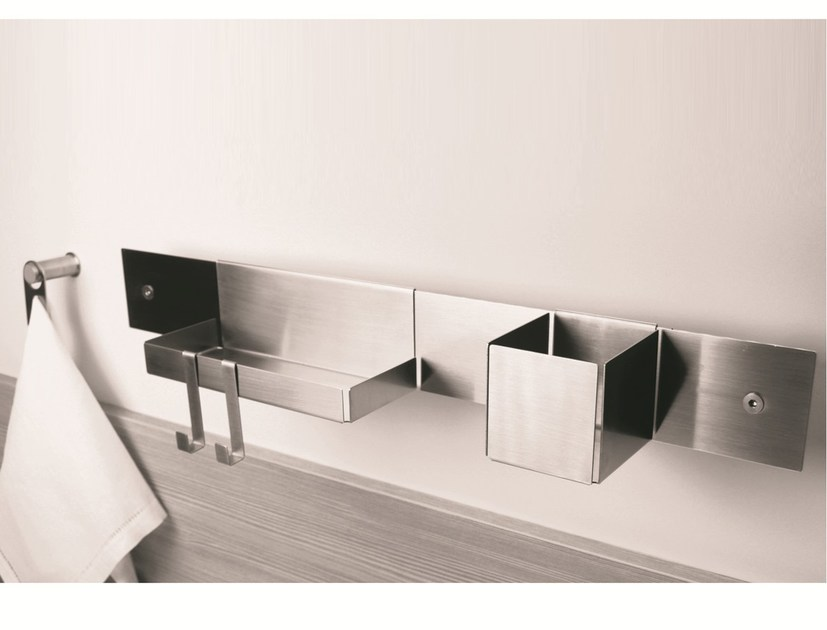 Stainless steel bathroom wall shelf EMME | Bathroom wall shelf by MINA