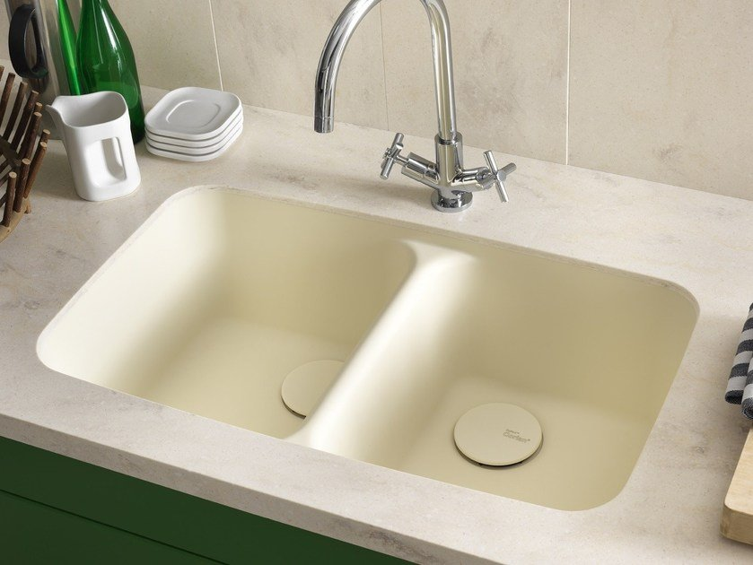 Lavello a 2 vasche sottotop in Corian® Corian® SMOOTH - DuPont de Nemours Italiana - DuPont ProtectionSolutions