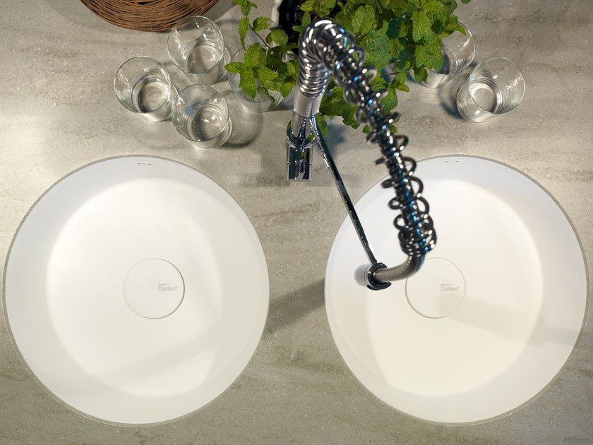 Flush-mounted Corian® sink Corian® ROUNDED - DuPont de Nemours Italiana - DuPont ProtectionSolutions