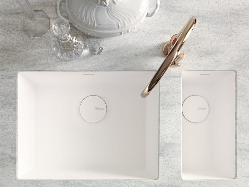Lavello a una vasca e mezzo sottotop in Corian® Corian® SPICY by DuPont Protection Solutions