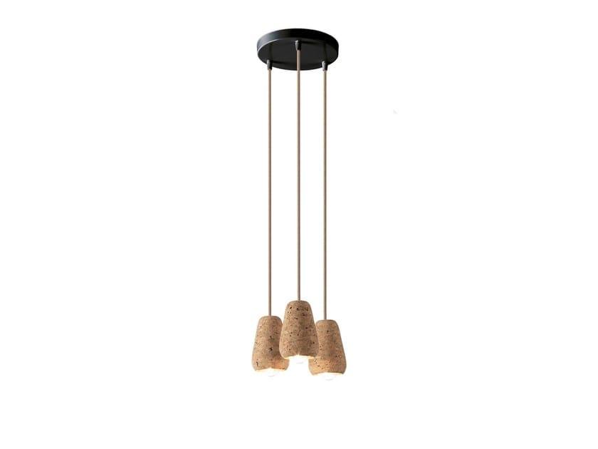 Cork pendant lamp CORKY 3 by ENVY