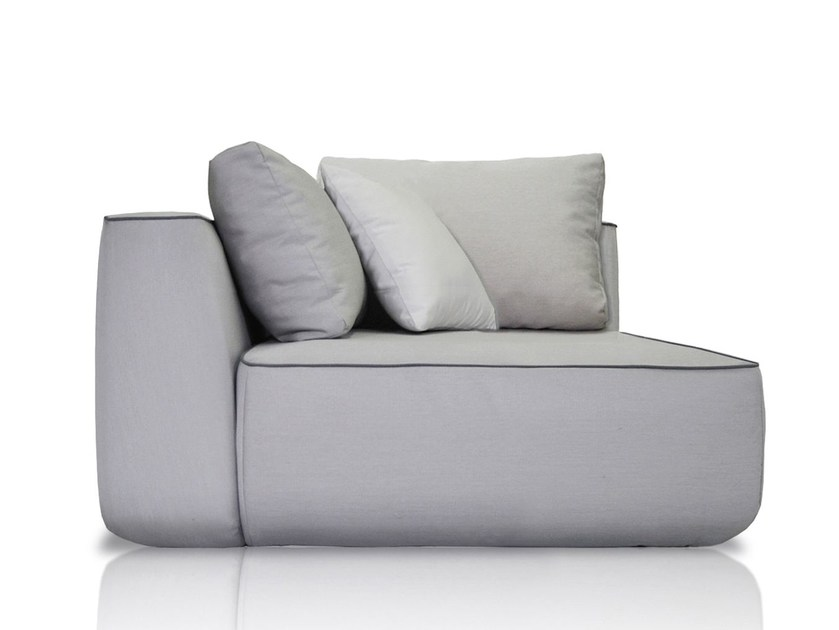 Corner upholstered fabric garden armchair PLUMP   Corner garden armchair by EXPORMIM
