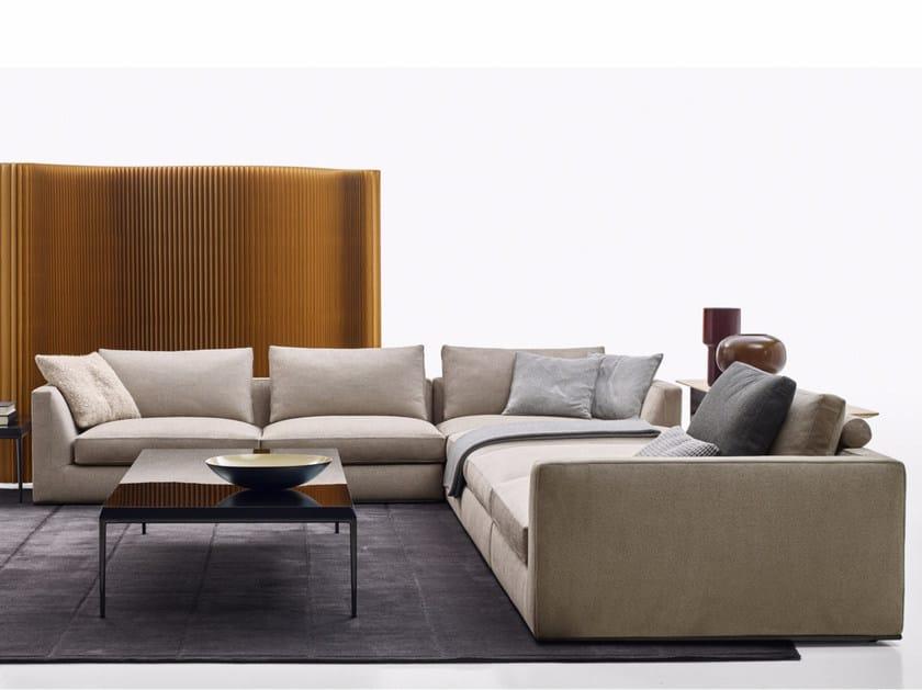 Corner sectional fabric sofa RICHARD | Corner sofa - B&B Italia
