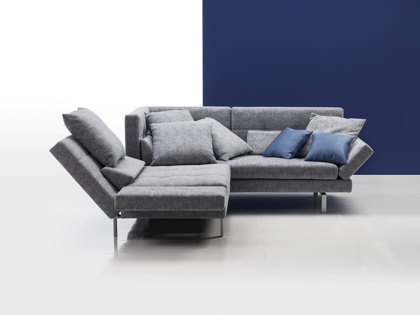 divano angolare reclinabile in tessuto amber | divano angolare - brühl - Reclinabile Divano Ad Angolo Chaise