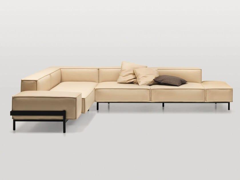 Corner leather sofa DS-22 | Corner sofa by de Sede