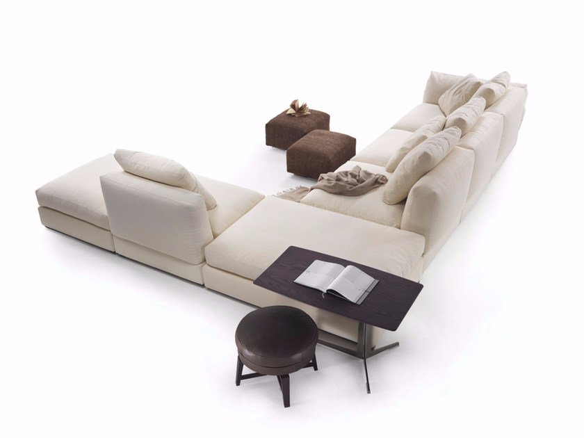 Corner sectional fabric sofa ZENO | Corner sofa - FLEXFORM