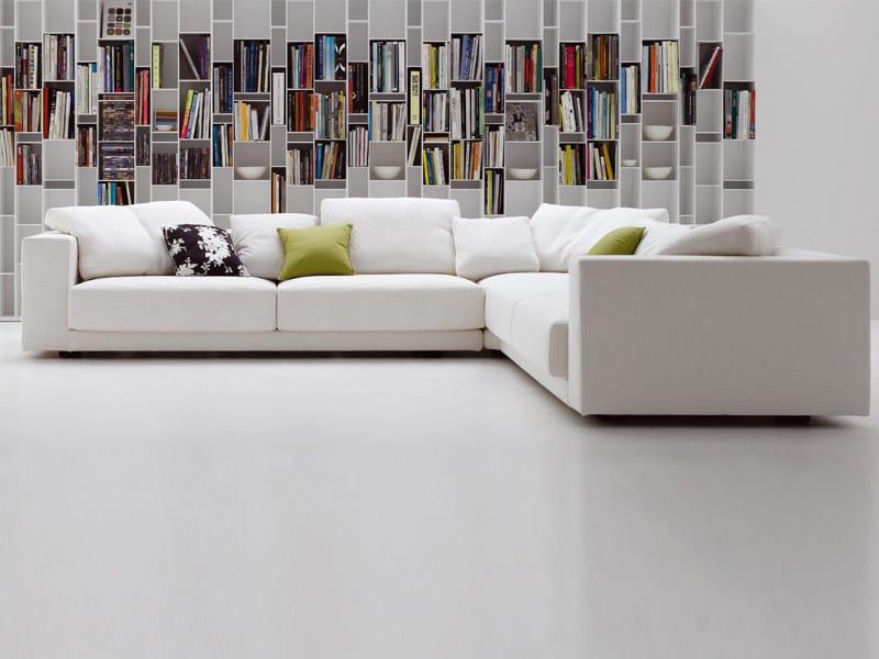 Corner fabric sofa with removable cover SLIDING SOFA | Corner sofa - MDF Italia