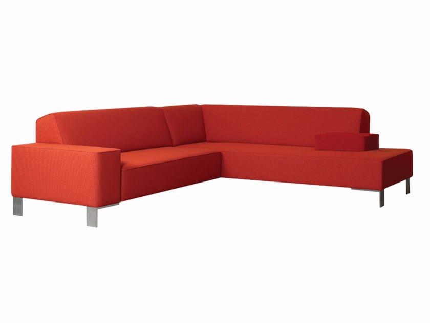 Corner fabric sofa FINCH METAL | Corner sofa - Palau