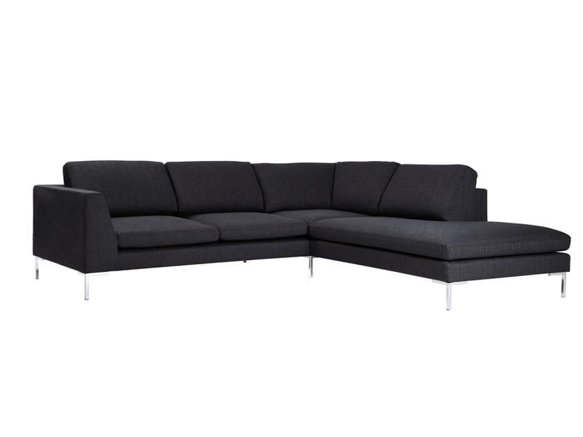 Sled base corner 4 seater fabric sofa TOKYO | Corner sofa - SITS