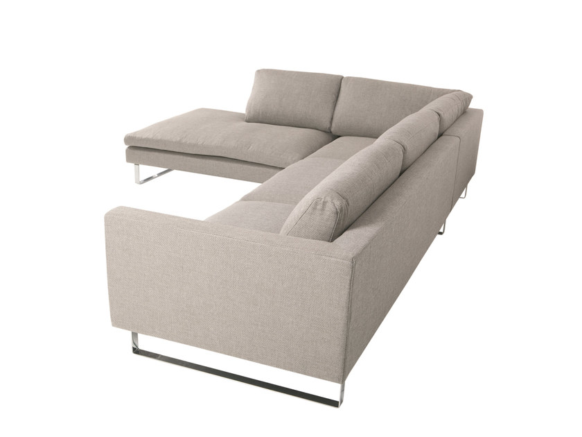 5 seater sled base corner fabric sofa TOKYO | Corner sofa - SITS