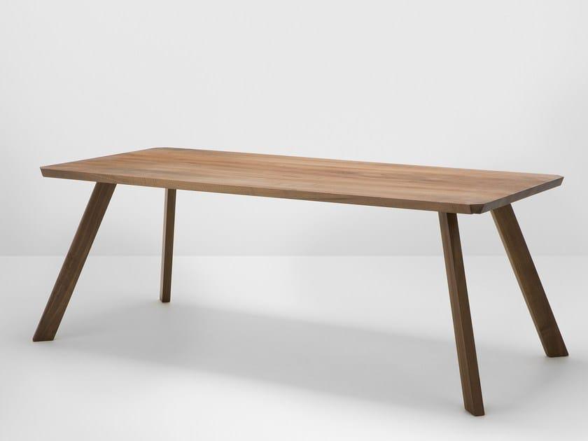 Rectangular walnut dining table CORNER | Walnut table - H Furniture