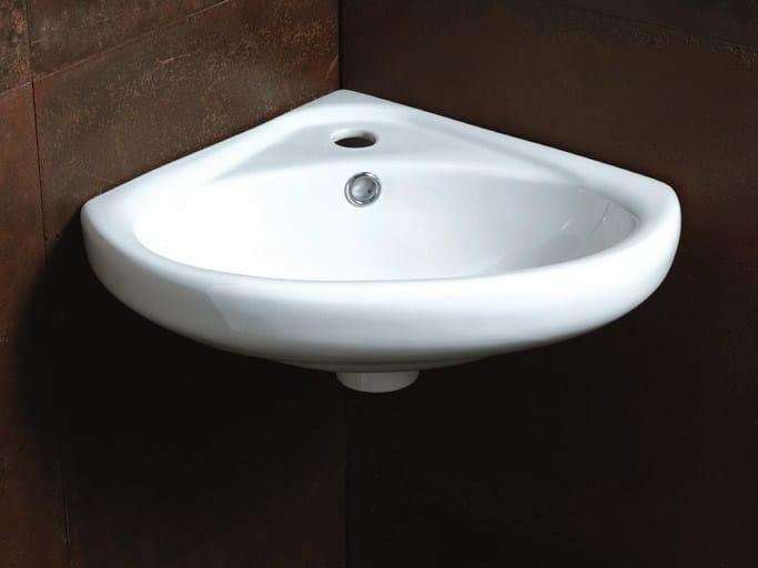 Corner ceramic washbasin SLEEPY | Corner washbasin - Alice Ceramica