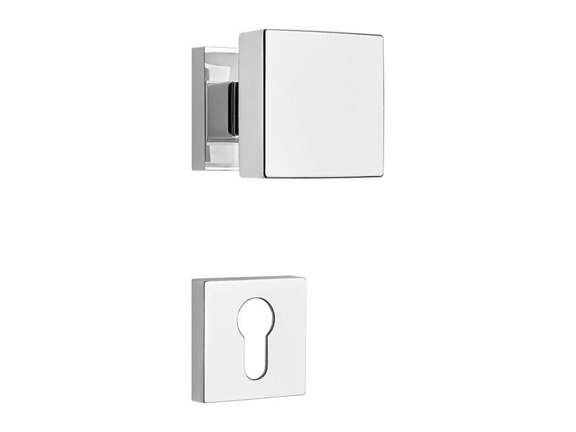 Contemporary style metal door knob with lock CORNER ZINCRAL | Door knob with lock - LINEA CALI'