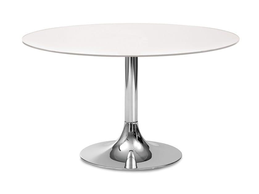 Round glass table CORONA-120 - DOMITALIA
