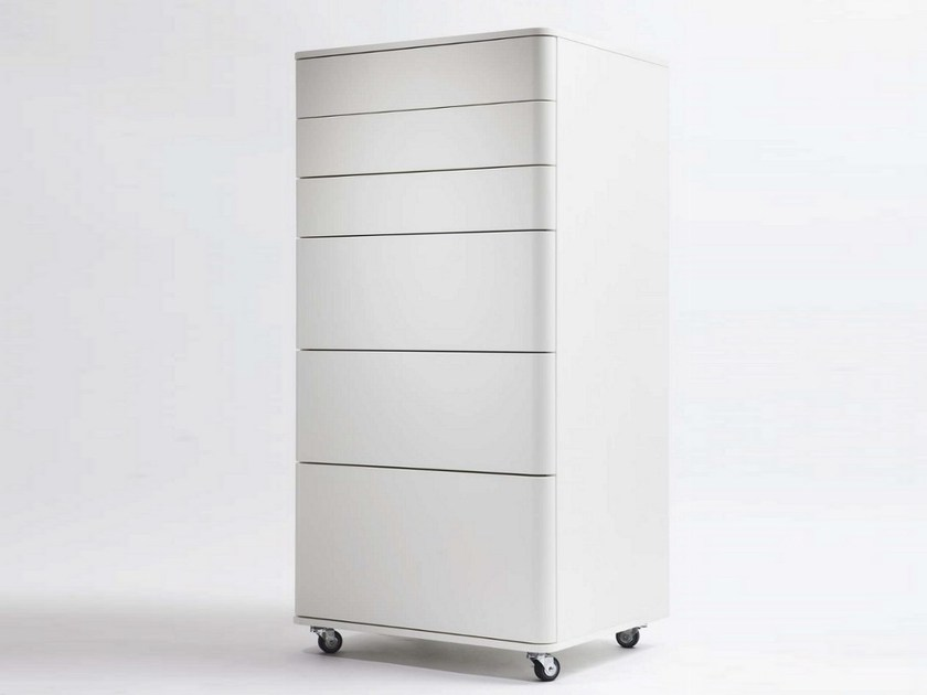 MDF storage unit with casters COSIMO | Office drawer unit by Adentro