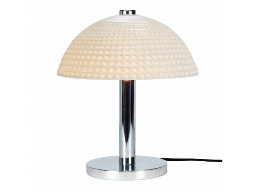 Porcelain table lamp with fixed arm COSMO DIMPLE | Table lamp by Original BTC