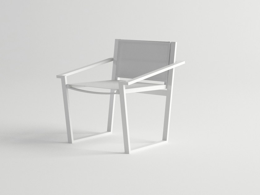 Aluminium garden chair with armrests COSTA | Chair with armrests by 10Deka