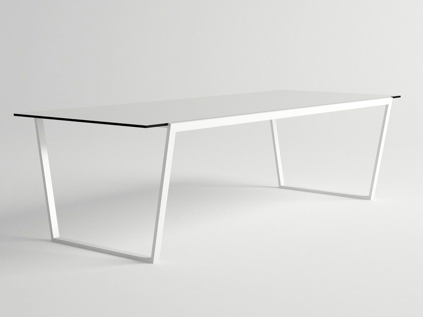 Rectangular aluminium garden table COSTA | Garden table - 10Deka