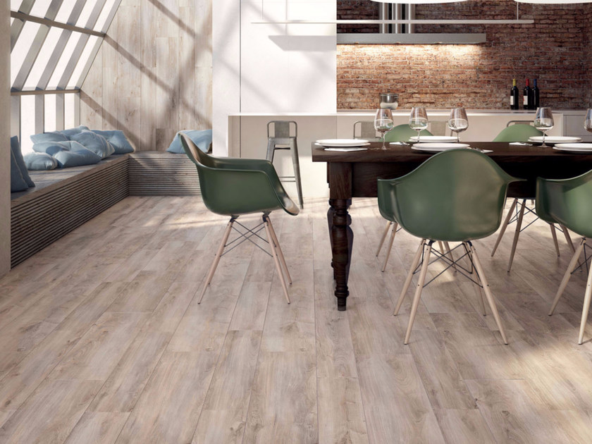 Full-body porcelain stoneware flooring with wood effect COTTAGE - Ceramiche Marca Corona