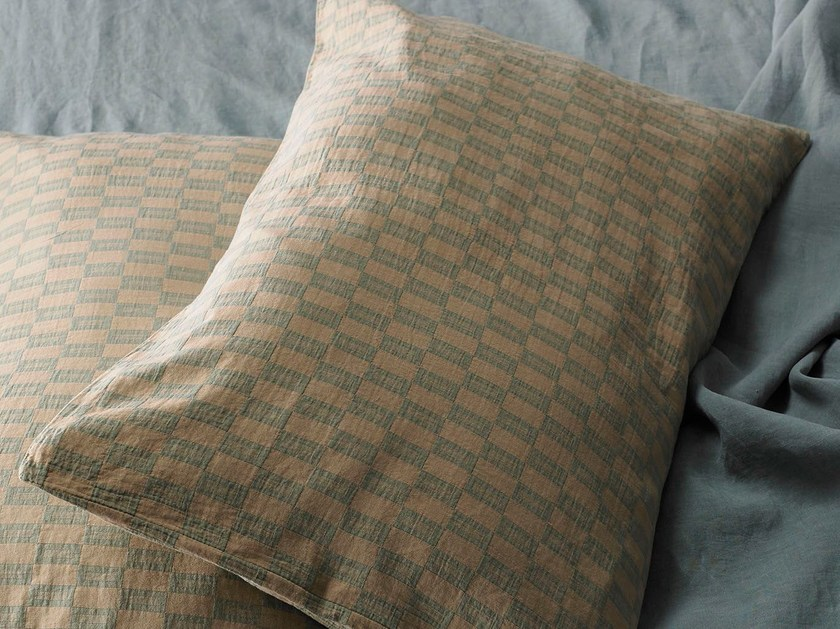 Cotton pillow case with graphic pattern KITO | Cotton pillow case - Society Limonta