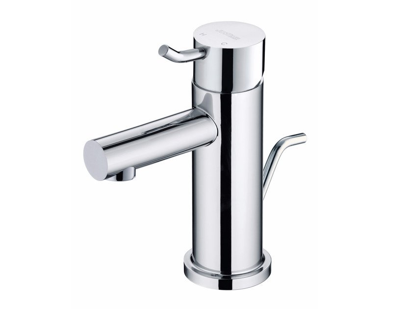 Countertop single handle chromed brass washbasin mixer SIMPLE | Countertop washbasin mixer - JUSTIME