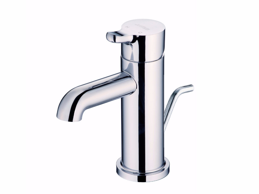 Countertop single handle 1 hole chromed brass washbasin mixer SWEET | Countertop washbasin mixer - JUSTIME