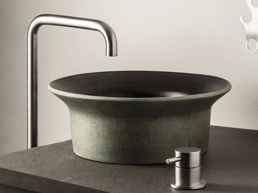 2 hole countertop washbasin mixer STIRIANA | Countertop washbasin mixer - MINA