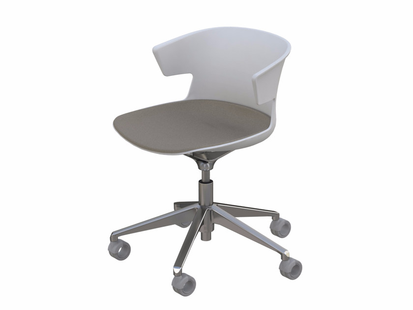 Task chair with 5-Spoke base with casters COVE | Chair with casters - Quadrifoglio Sistemi d'Arredo