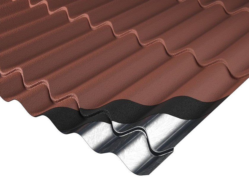 Metal sheet and panel for roof COVER TILE - Ondulit Italiana