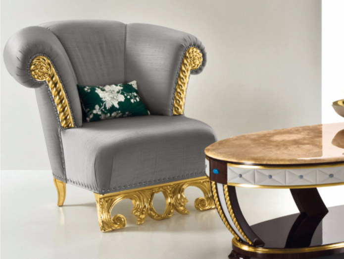 Upholstered fabric armchair CP180 | Armchair - Rozzoni Mobili d'Arte