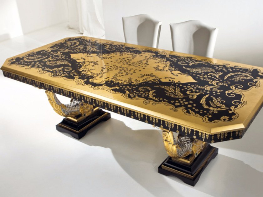Lacquered rectangular living room table CP184 | Table - Rozzoni Mobili d'Arte