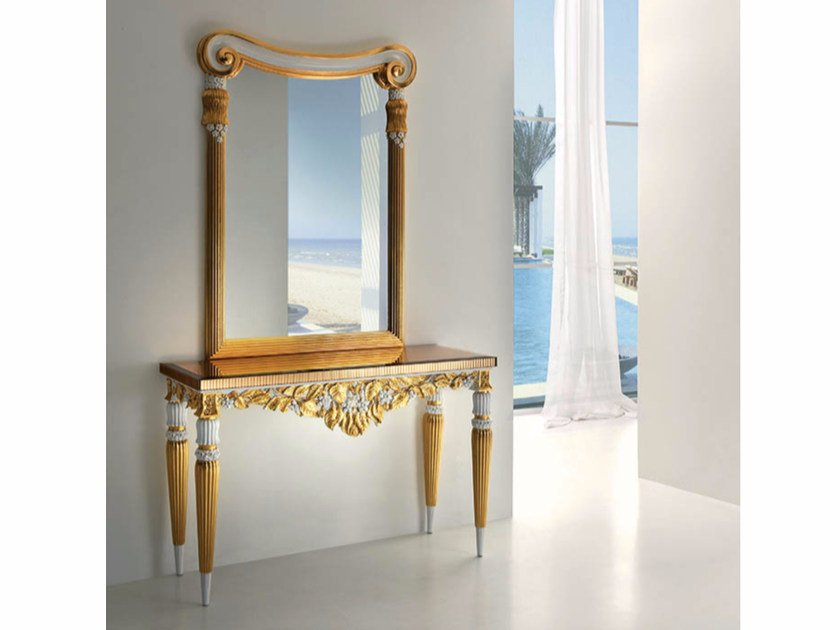 Rectangular mirrored glass console table CP189 | Console table - Rozzoni Mobili d'Arte