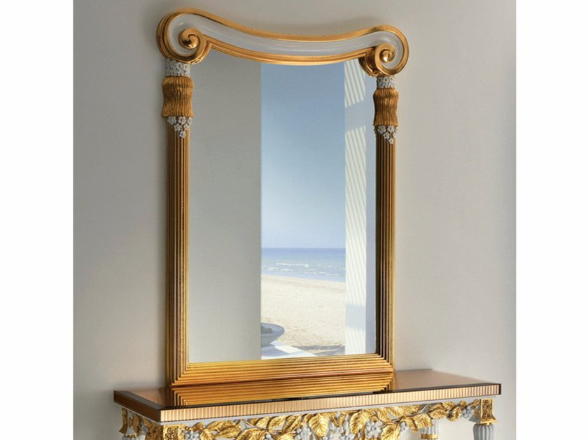 Rectangular wall-mounted framed mirror CP190 | Mirror - Rozzoni Mobili d'Arte