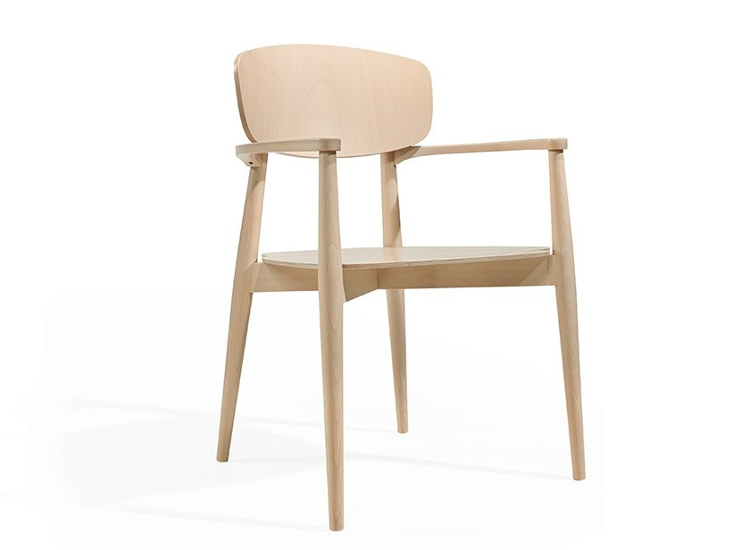 Wooden chair with armrests CRAFT CB - Fenabel - The heart of seating