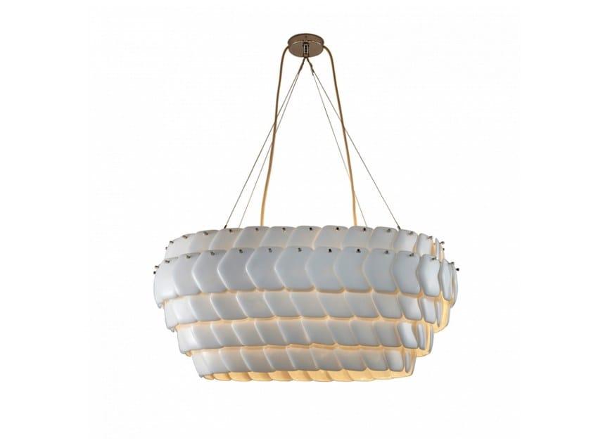 Porcelain pendant lamp with dimmer CRANTON OVAL - Original BTC