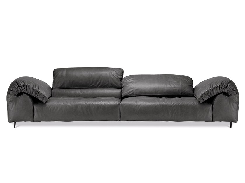 3 seater leather sofa with headrest CRAZY DIAMOND | 3 seater sofa - Arketipo