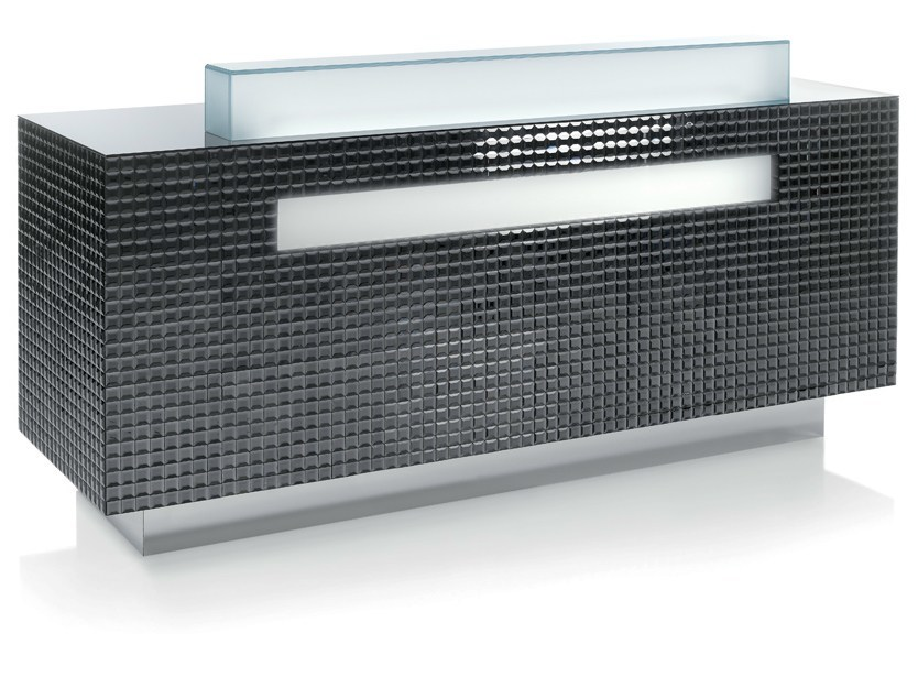 Reception desk with Built-In Lights CRAZY DIAMOND FUME by Gamma & Bross