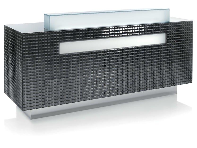 Reception desk with Built-In Lights CRAZY DIAMOND FUME - Gamma & Bross