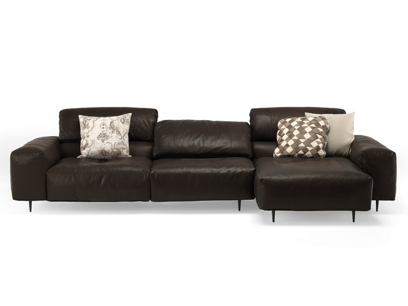 Sectional leather sofa CRAZY DIAMOND | Sectional sofa - Arketipo