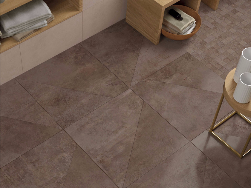 Full-body porcelain stoneware flooring with concrete effect CREATION | Flooring - Ceramiche Marca Corona