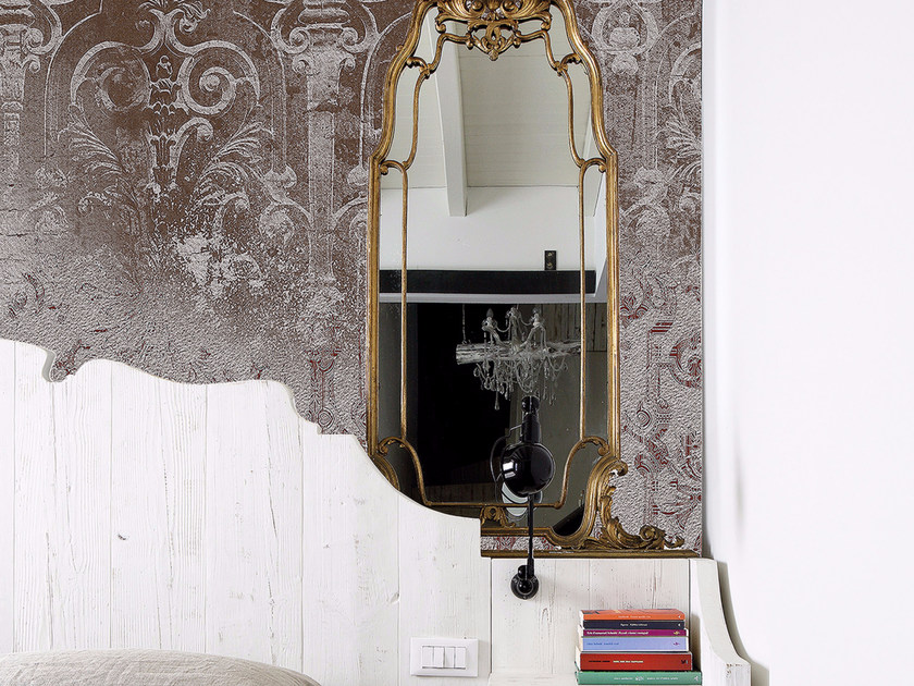 Panoramic wallpaper CRÊPELÉ 02 - Inkiostro Bianco