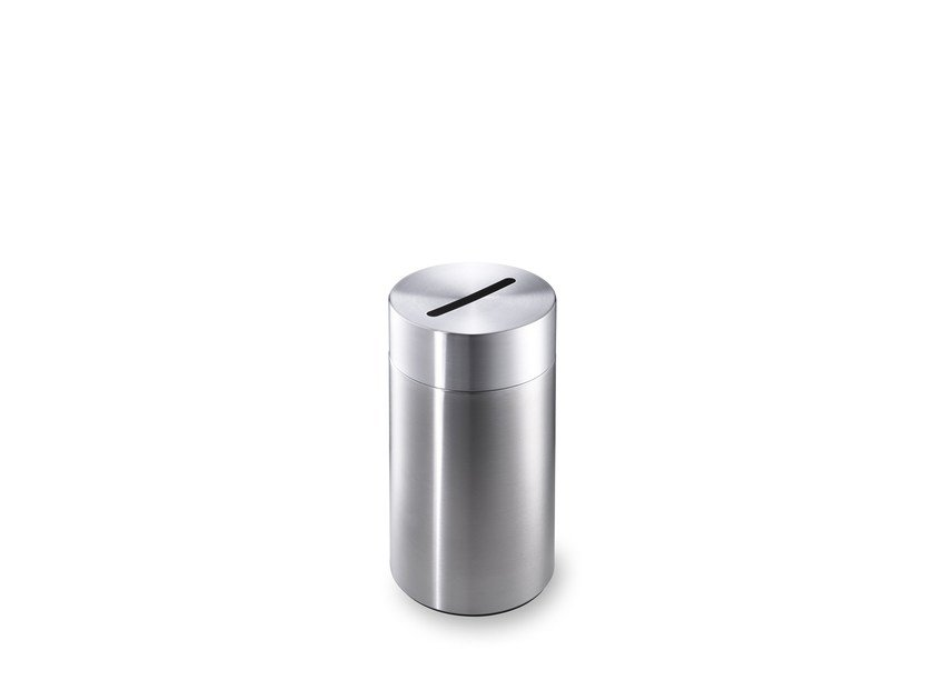 Stainless steel waste paper bin CREW 13 by rosconi