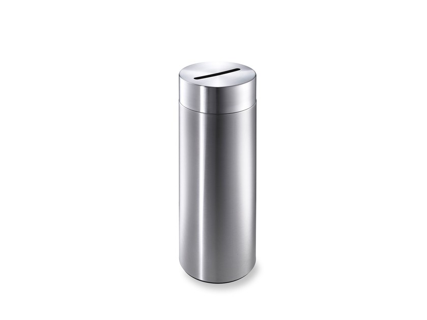 Stainless steel waste paper bin CREW 23 by rosconi