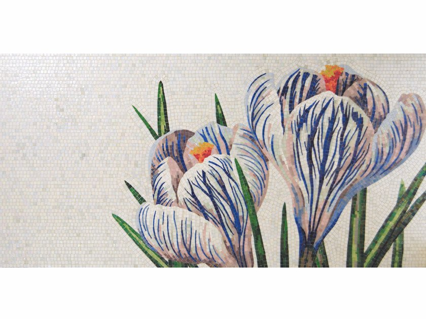 Stained glass mosaic CROCUS A - FRIUL MOSAIC