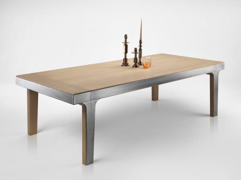 Extending oak table CRONOS by L'Ottocento