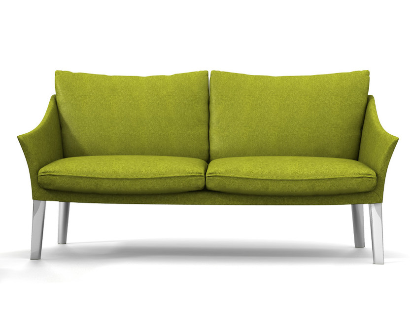 2 seater fabric sofa with removable cover CROSS I194 by Segis